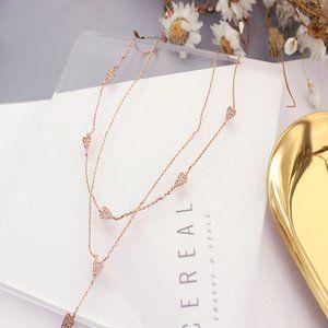 Henri Bendel Wild Diamond Heart Necklace